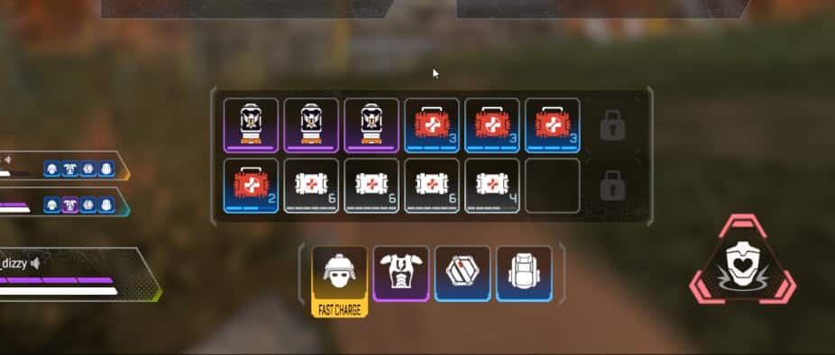 Winning Apex Legends with 0 kills inventory