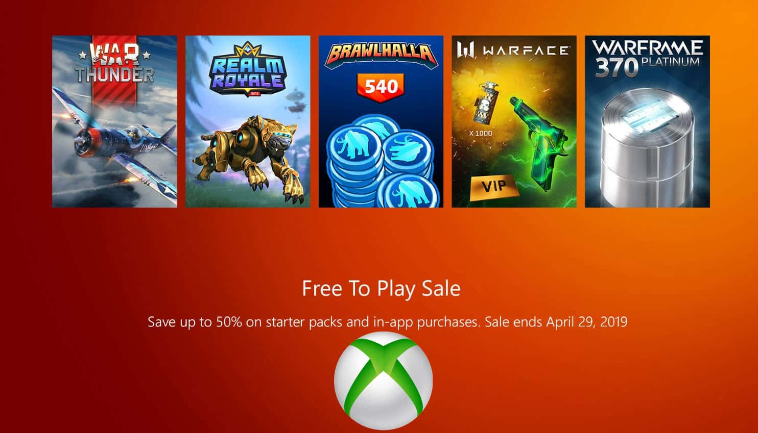 XBOX ONE Save Up To 50% On DLC for Free-to-Play Games