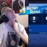 XQcOW Wins First Fortnite Game