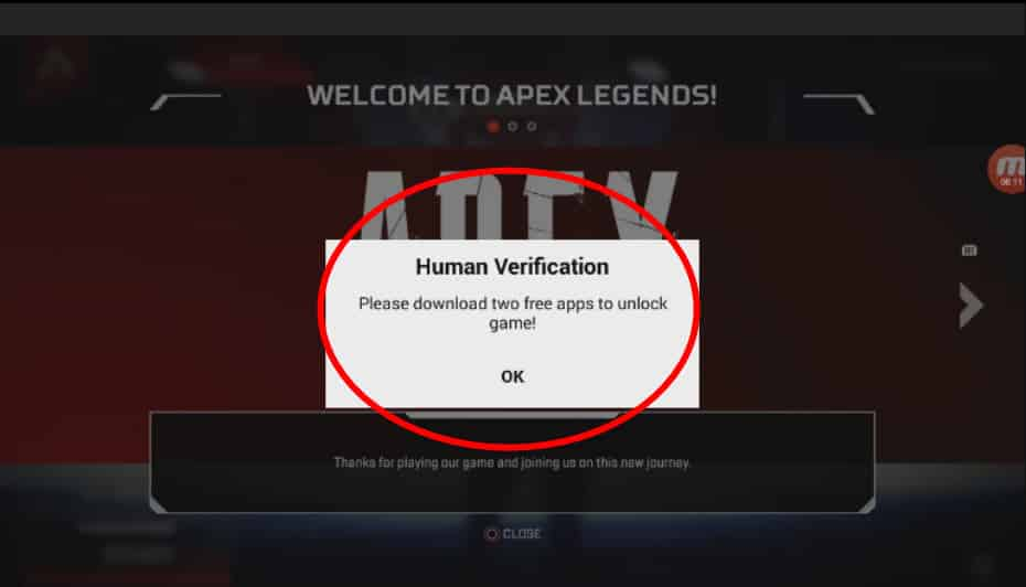 Fake Apex Legends app