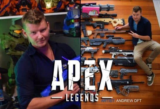 Apex Legends Fan Builds Life Size Weapon Props Using Styrofoam