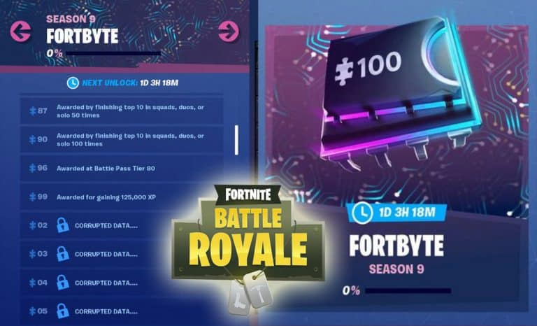 Fortnite Fortbytes List Information, Location and Awards