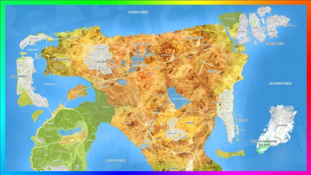 GTA 6 Concept Map Grand Theft Auto VI