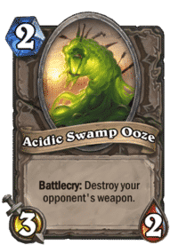 Hearthstone Acidic Swamp Ooze