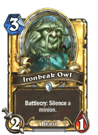 Hearthstone Ironbeak Owl(500) Gold
