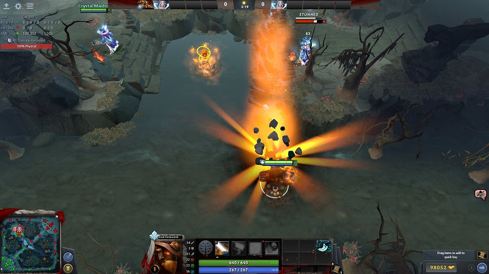 Level 3 presence Dota 2 Earthshaker
