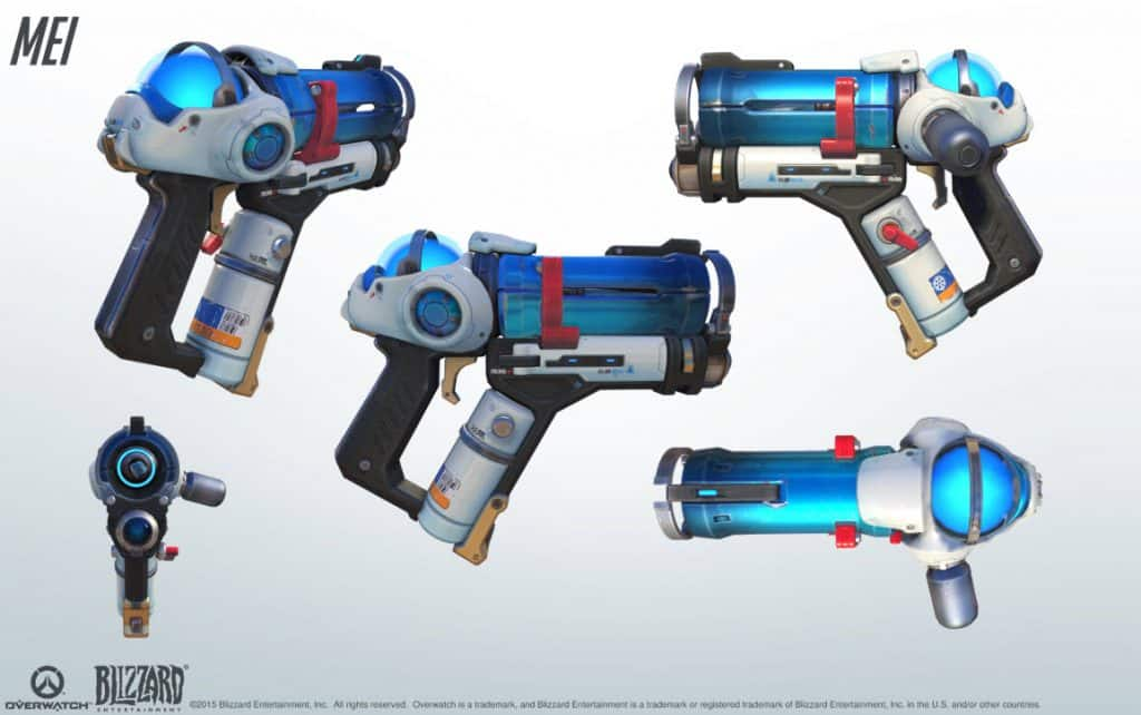 MEI New Skin Gun Overwatch