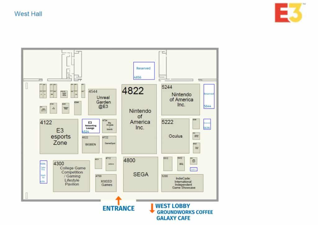 West Hall E3 Floor Plan Los Angeles Event