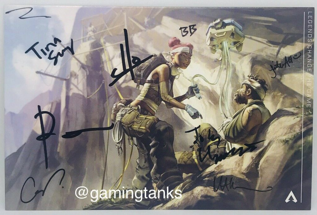 APEX LEGENDS Developer Staff Signed Art Card Respawn Entertainment EA PLAY