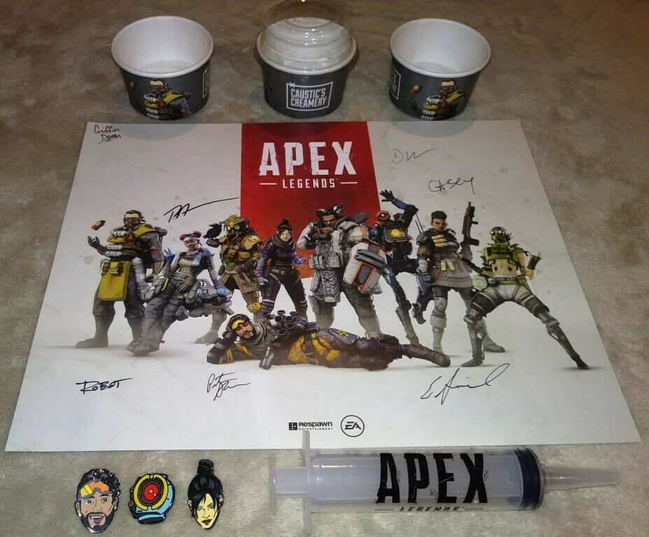 APEX LEGENDS Respawn Dev Staff Signed Poster EA PLAY 2019