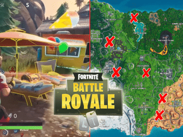 All Fortnite Beach Parties Locations Challenge