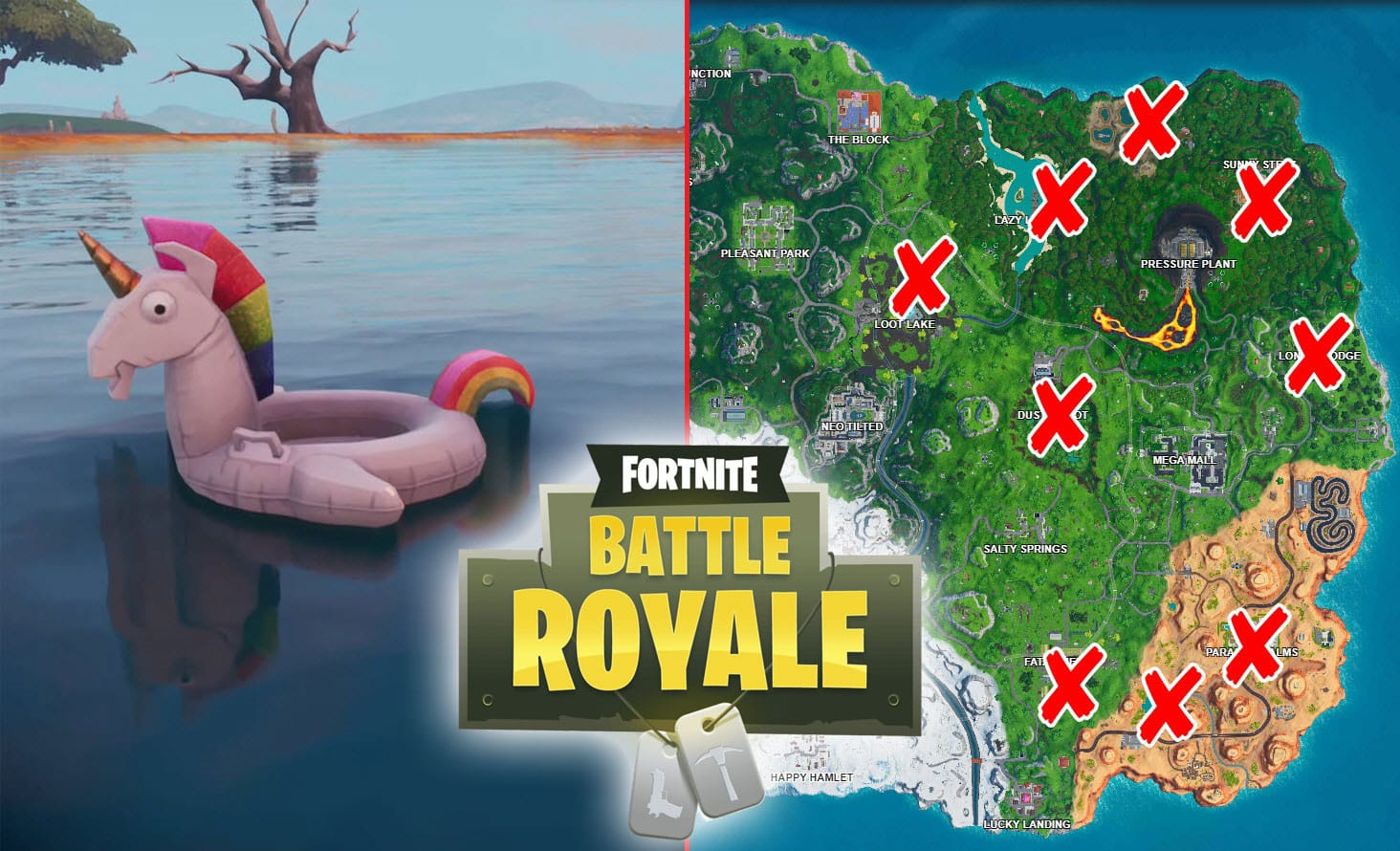 All Fortnite Unicorn Floaties Locations