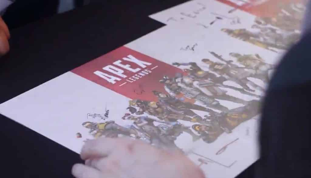 Apex Legends Dev Signing Poster at EA PLAY