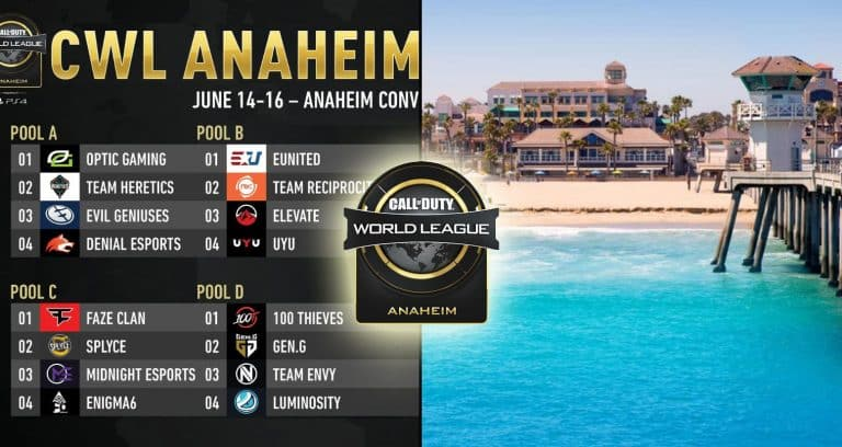 CWL Anaheim 2019 Schedule, Updates and Results