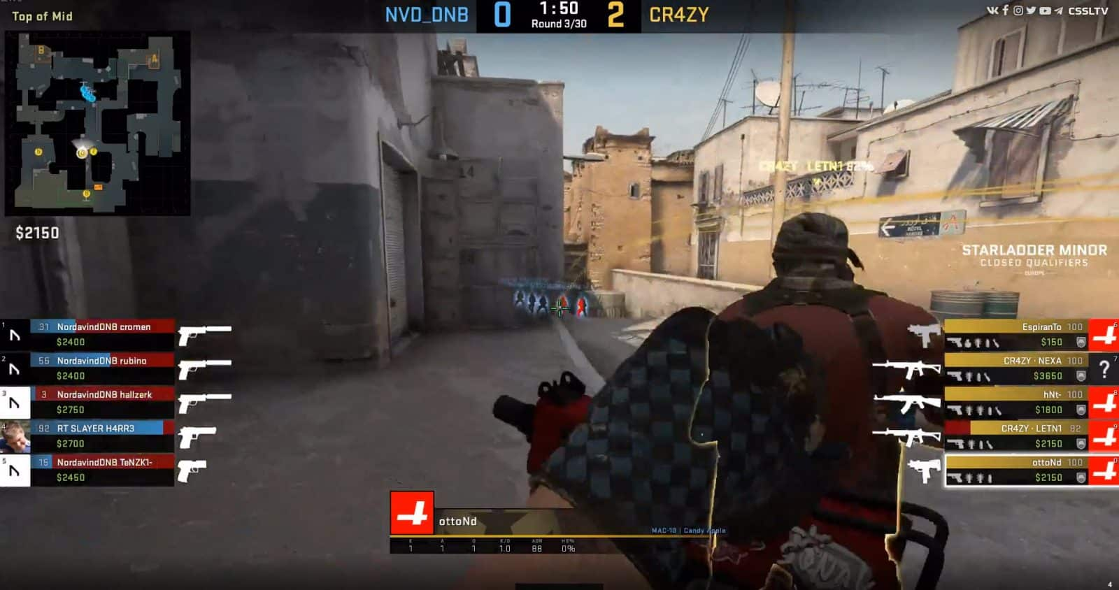 Fastest CSGO Round Win Ever Team CR4ZY Wins in 7 Seconds