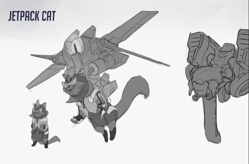 Jetpack Cat Overwatch Concept Hero
