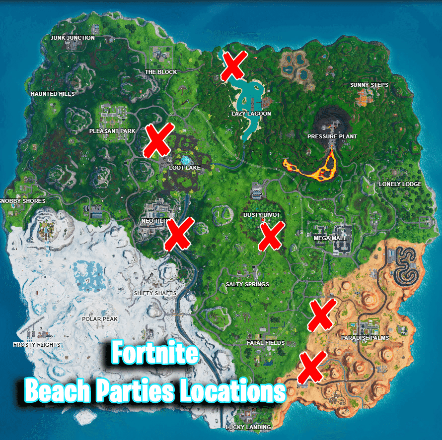 Locations-for-the-Beach-Parties-Challenge-Battle-Royale