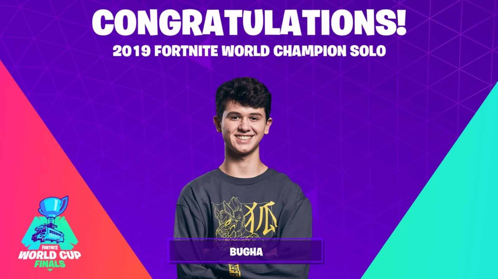2019 Fortnite World Champion Solo Bugha