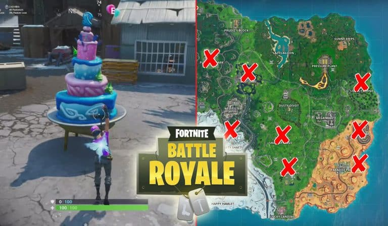 All Fortnite Birthday Cake Locations