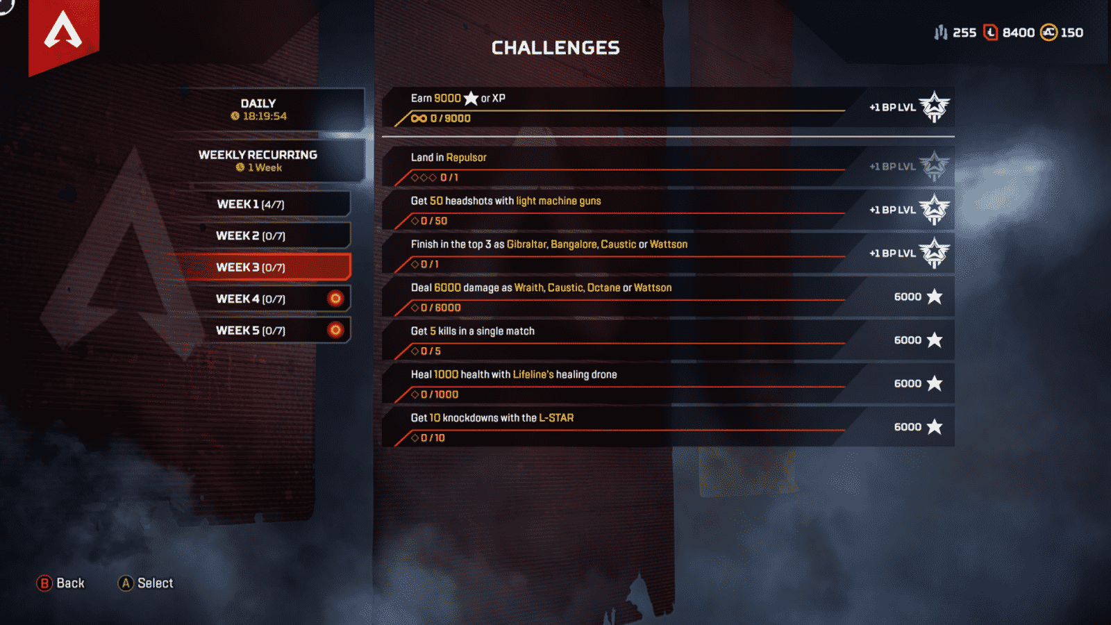 Apex Legends Week 3 Challenges