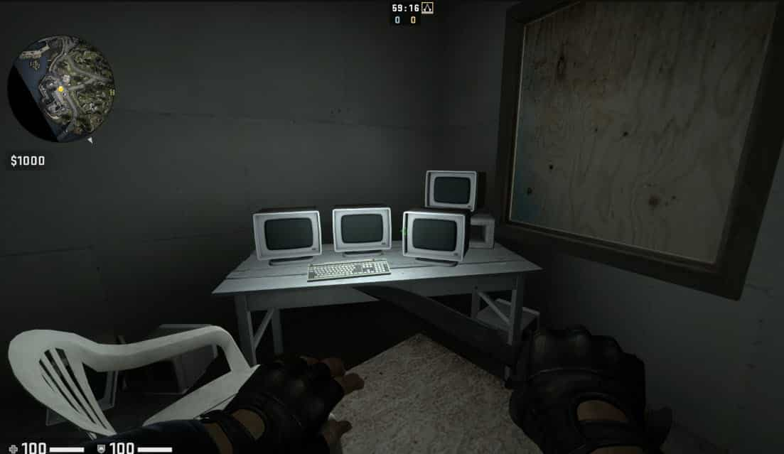 CSGO easter egg portal tv room