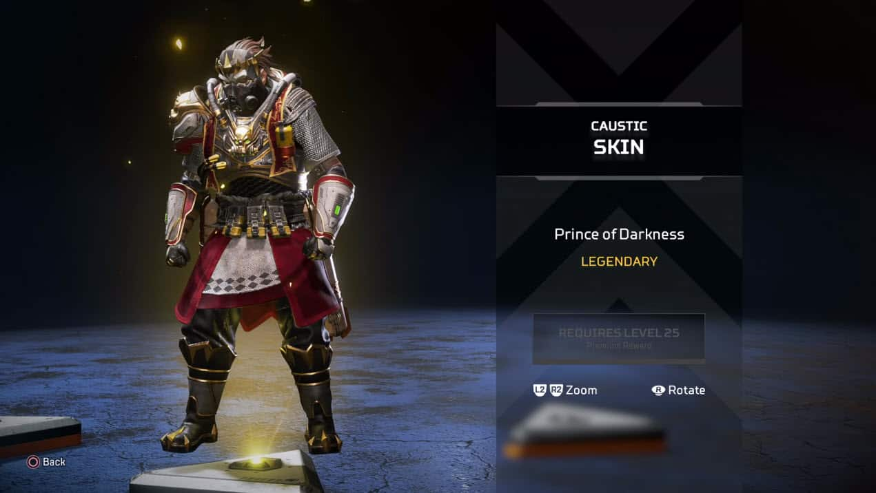 Caustic Skin Prince of Darkness Season 2 Apex Legends