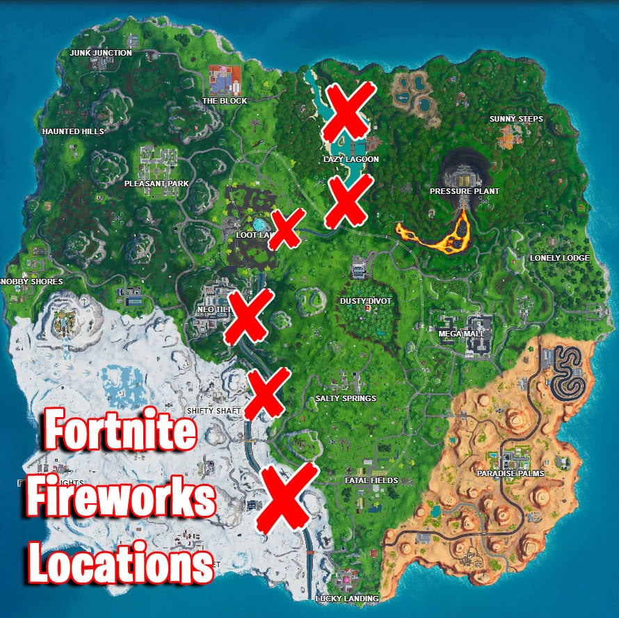 Fireworks challenge in Fortnite Battle Royale