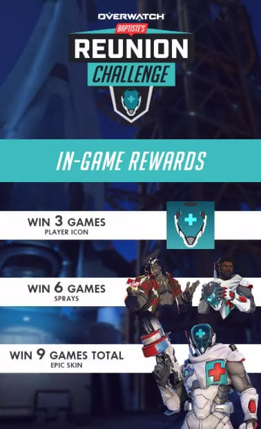 Overwatch Reunion Challenge In-Game Rewards
