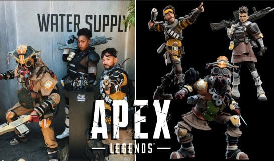 The Apex Legends Figures From EA Play Mini EPICS Bloodhound Mirage Bangalore