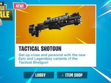 The Fortnite Tactical Shotgun Variants Are Coming
