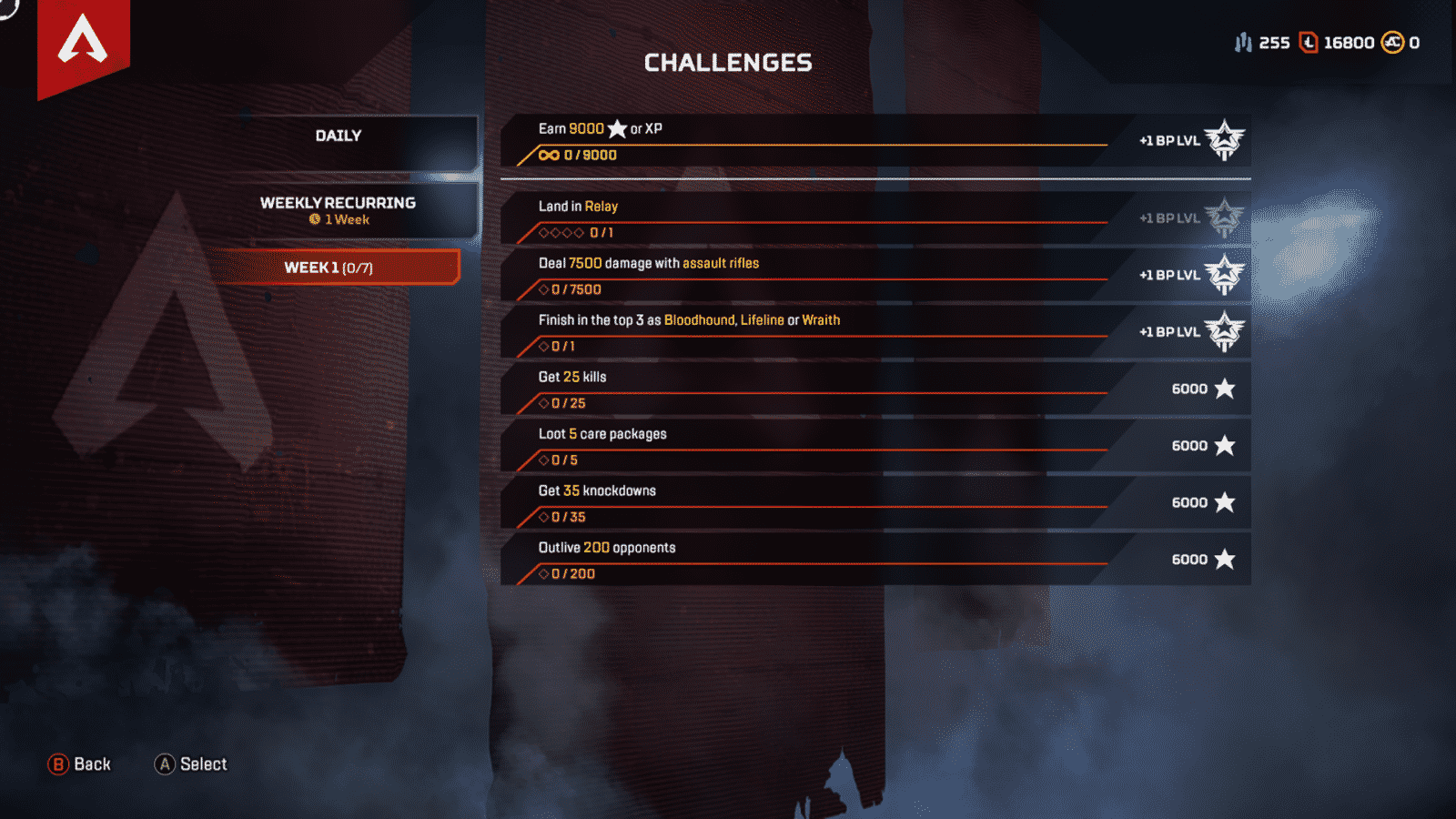 Week 1 Challenges 7 Tasks Season 2