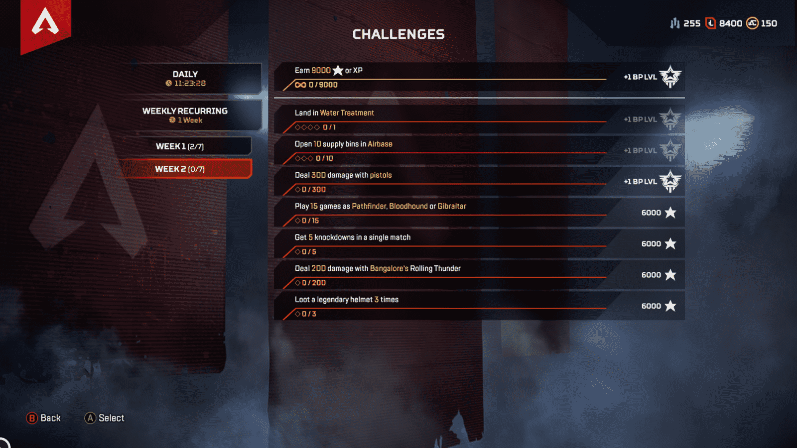 Week 2 challenges Apex Legends season 2