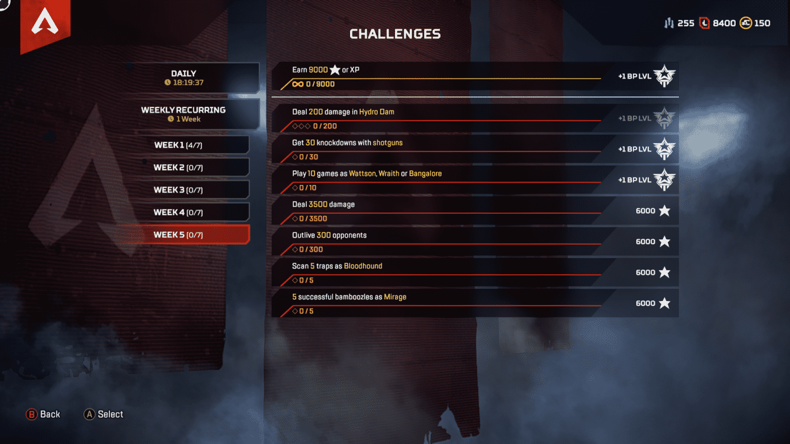 Week 5 challenges for Apex Legends