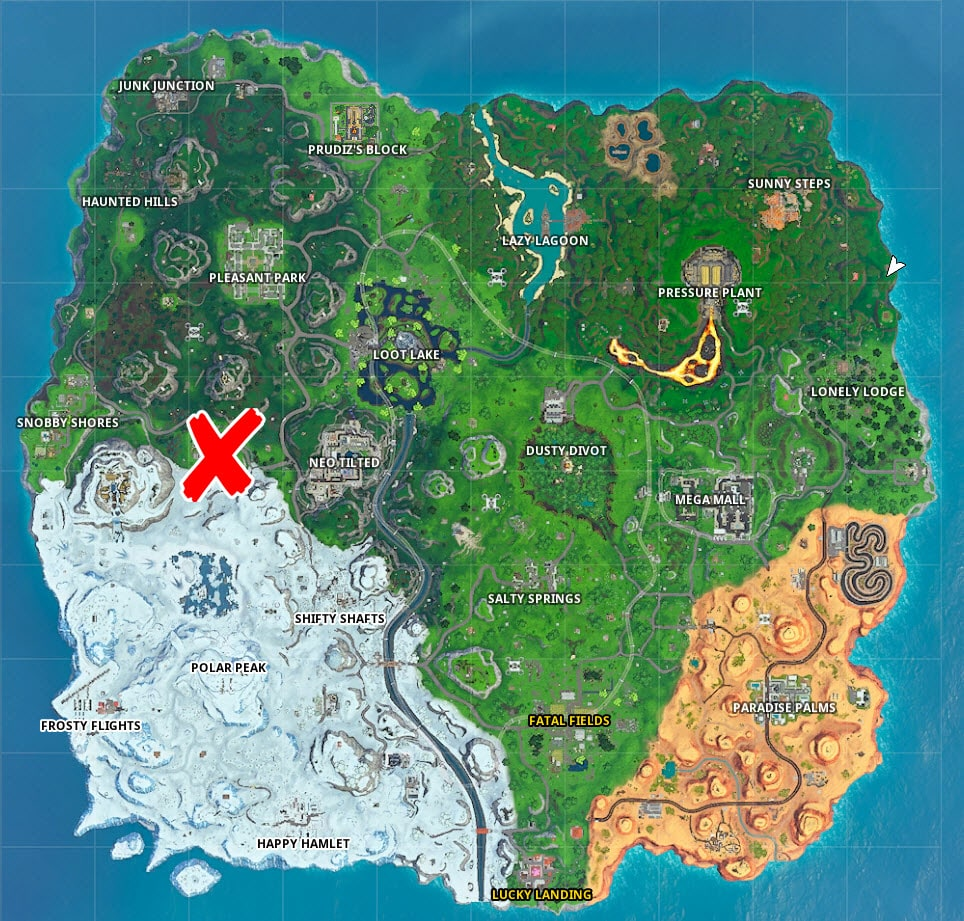 Where to score in Fortnite pitch