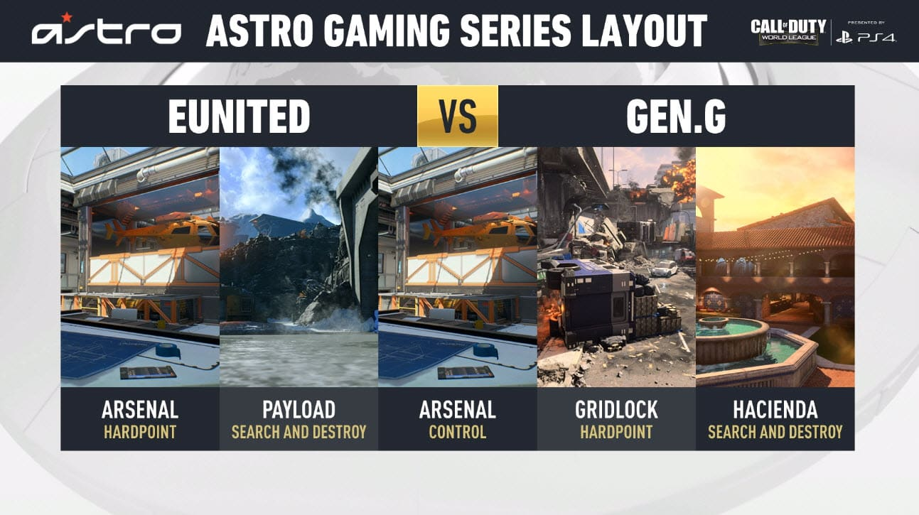 eUnited VS Gen.G Gaming Series Layout CWL Miami Final Esports
