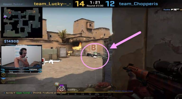AWP Gets Stuck In Weird Position And Saves Flusha