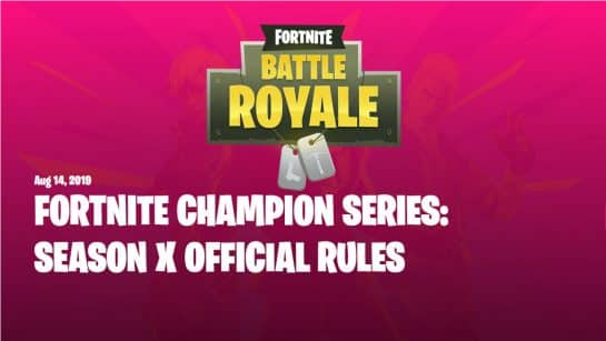 All Fortnite Champion Series Details And Rules