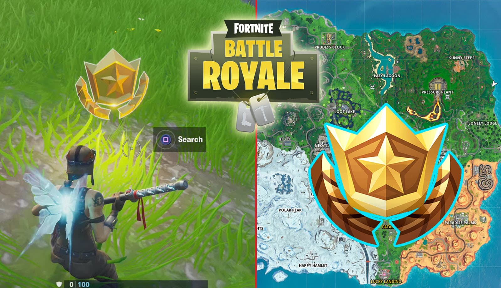 All Fortnite Secret Season 10 Battle Star Locations - Game ...