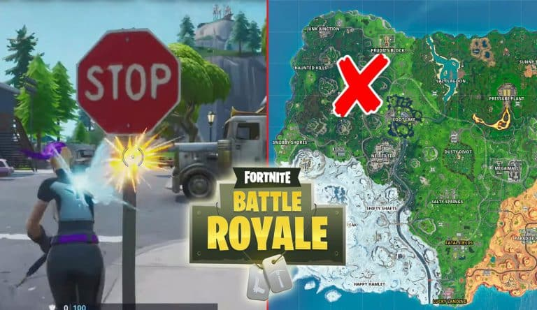 All Fortnite Stop Sign Locations