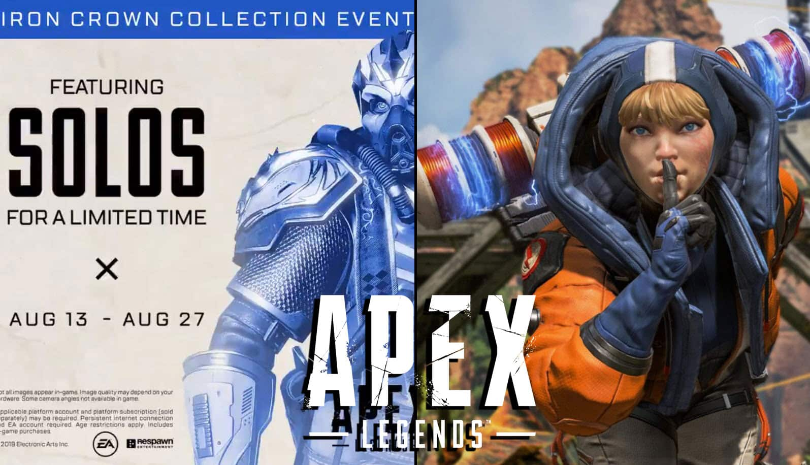 Apex Legends Solos - Iron Crown Collection Event [Limited Time]