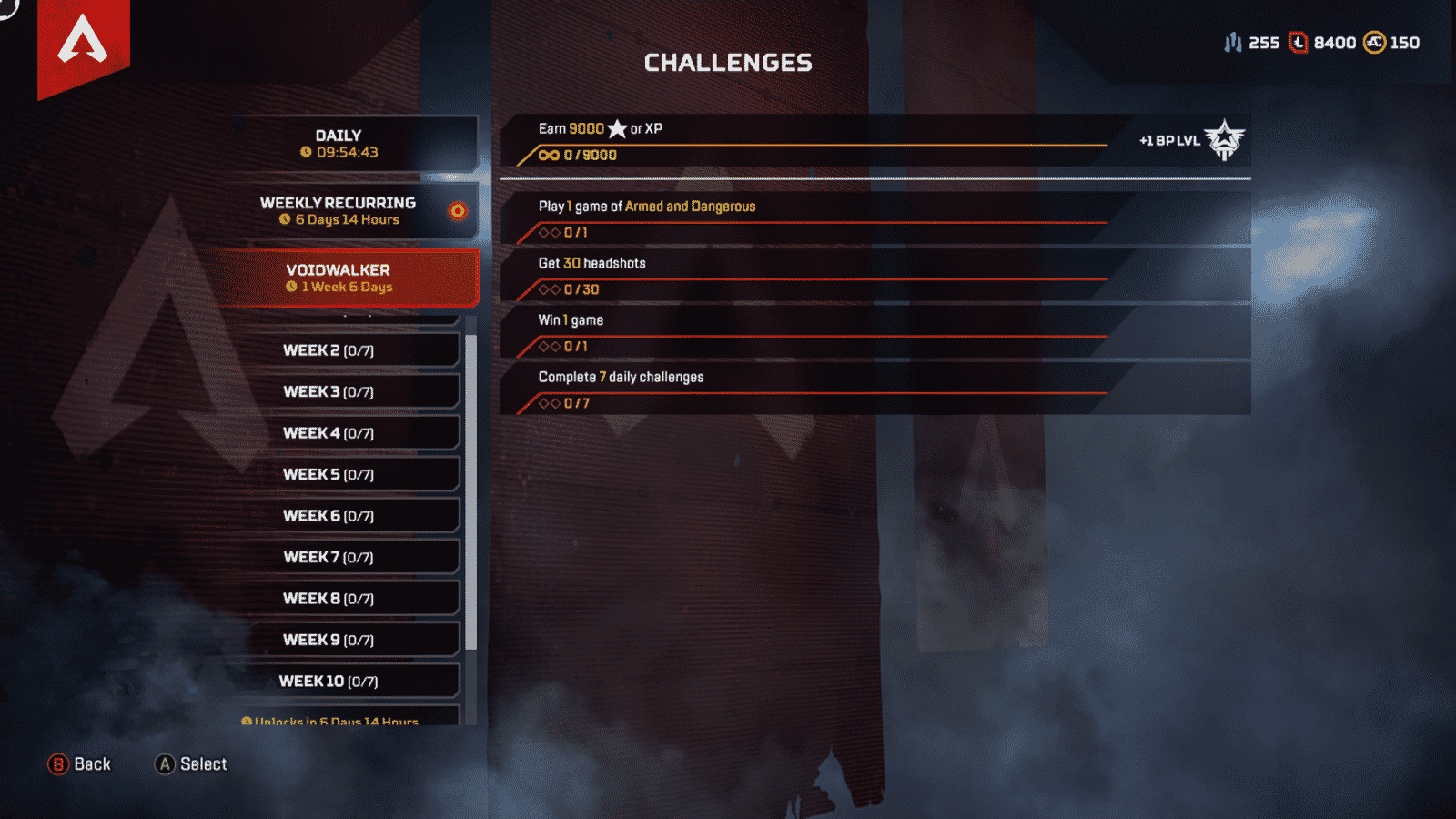 Apex Legends Voidwalker Challenges list