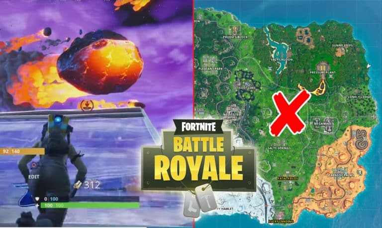 Fortnite Dusty Depot And Meteor Location [Blockbuster Challenge]