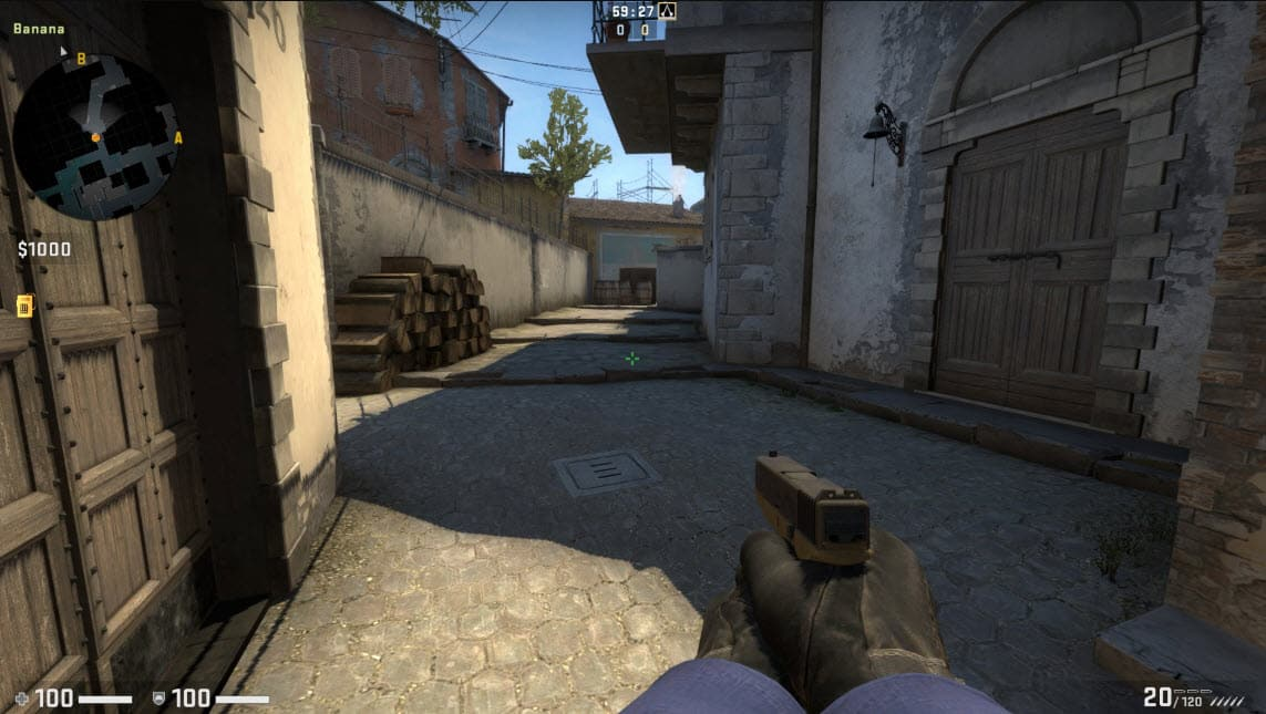 Holding crosshair too low CSGO Mistakes
