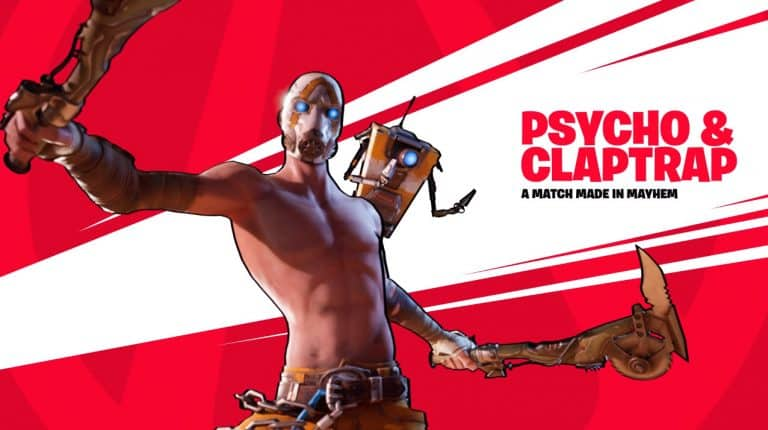 Psycho and Claptrap Fortnite