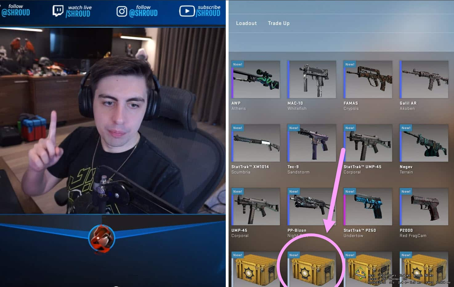 Shroud Gambles By Opening A CSGO Case In Middle Of Defusing A Bomb
