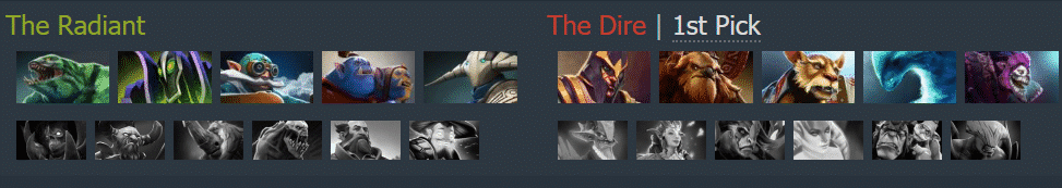 The Radiant The Dire 1st Pick Dota 2 Event