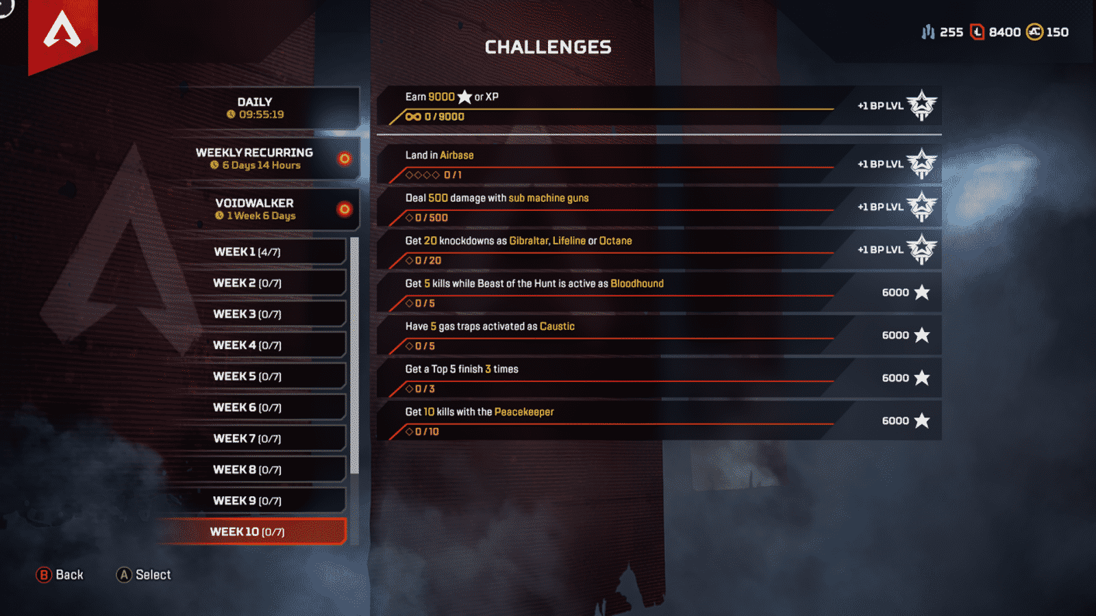 Week 10 challenges for Apex Legends season 2