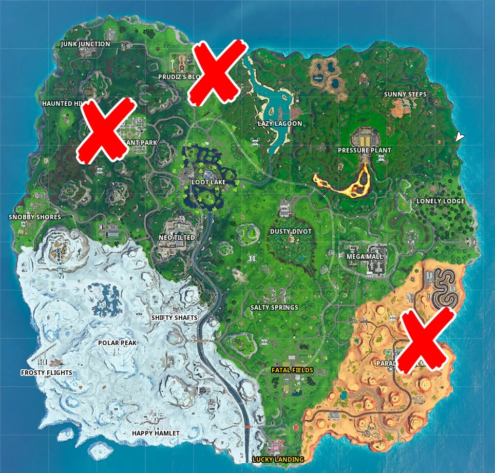 Where are the chests in Fortnite 30 seconds challenge
