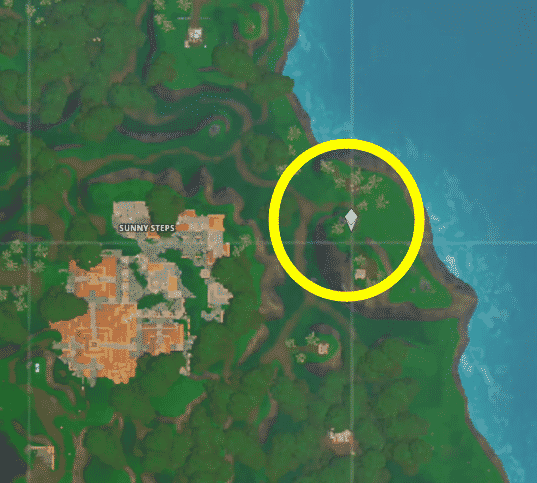 Where is the week 4 Secret Battle star location for Junk Storm