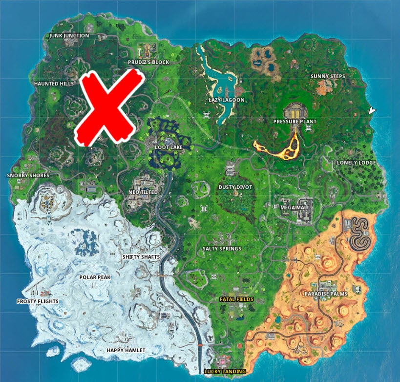 All Fortnite Stop Sign Locations - Game Life